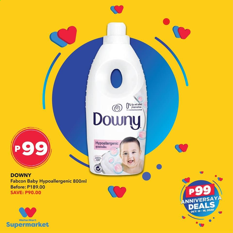 Walter Mart offer  - 15.10.2020 - 18.10.2020 - Sales products - downy. Page 4.