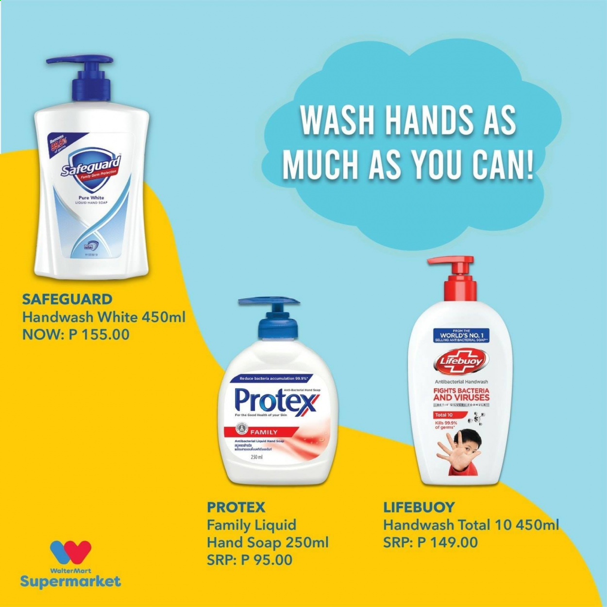 Walter Mart offer  - 15.10.2020 - 15.10.2020 - Sales products - hand soap, liquid. Page 3.