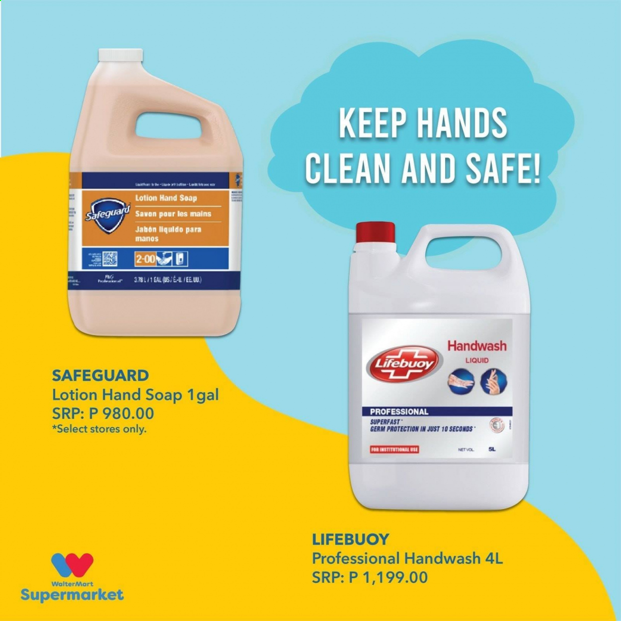 Walter Mart offer  - 15.10.2020 - 15.10.2020 - Sales products - safe, hand soap, liquid. Page 4.