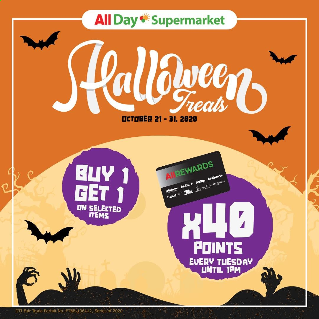 AllDay Supermarket offer  - 21.10.2020 - 31.10.2020. Page 1.