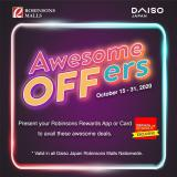 Robinsons Malls offer  - 15.10.2020 - 31.10.2020.