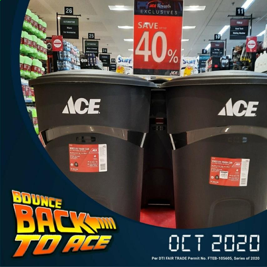 ACE Hardware offer  - Sales products - trash can. Page 5.