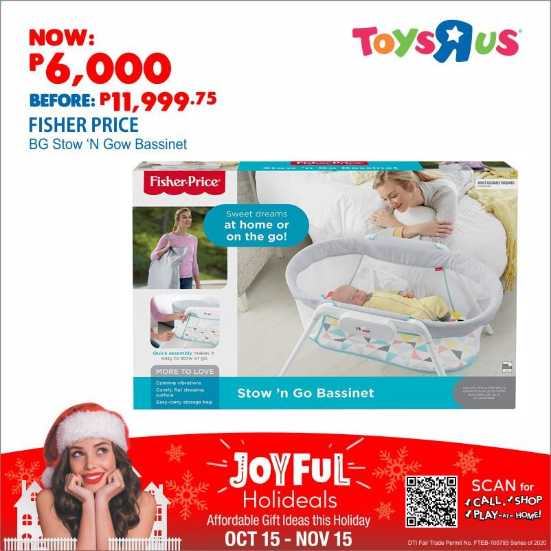 "Toys""R""Us offer  - 15.10.2020 - 15.11.2020 - Sales products - storage bag. Page 1."