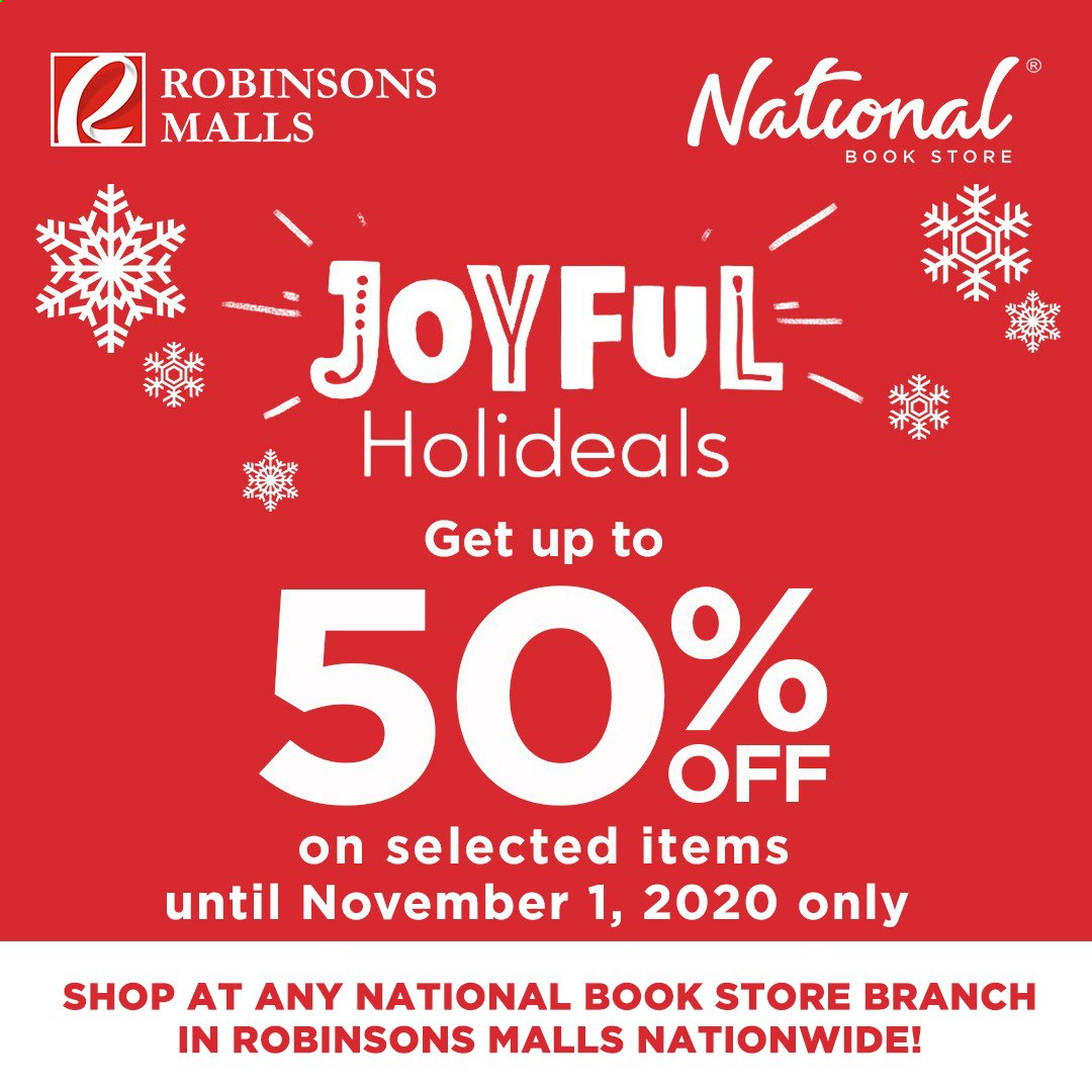 National Book Store offer  - 28.10.2020 - 1.11.2020 - Sales products - book. Page 1.