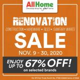 AllHome offer  - 9.11.2020 - 30.11.2020.