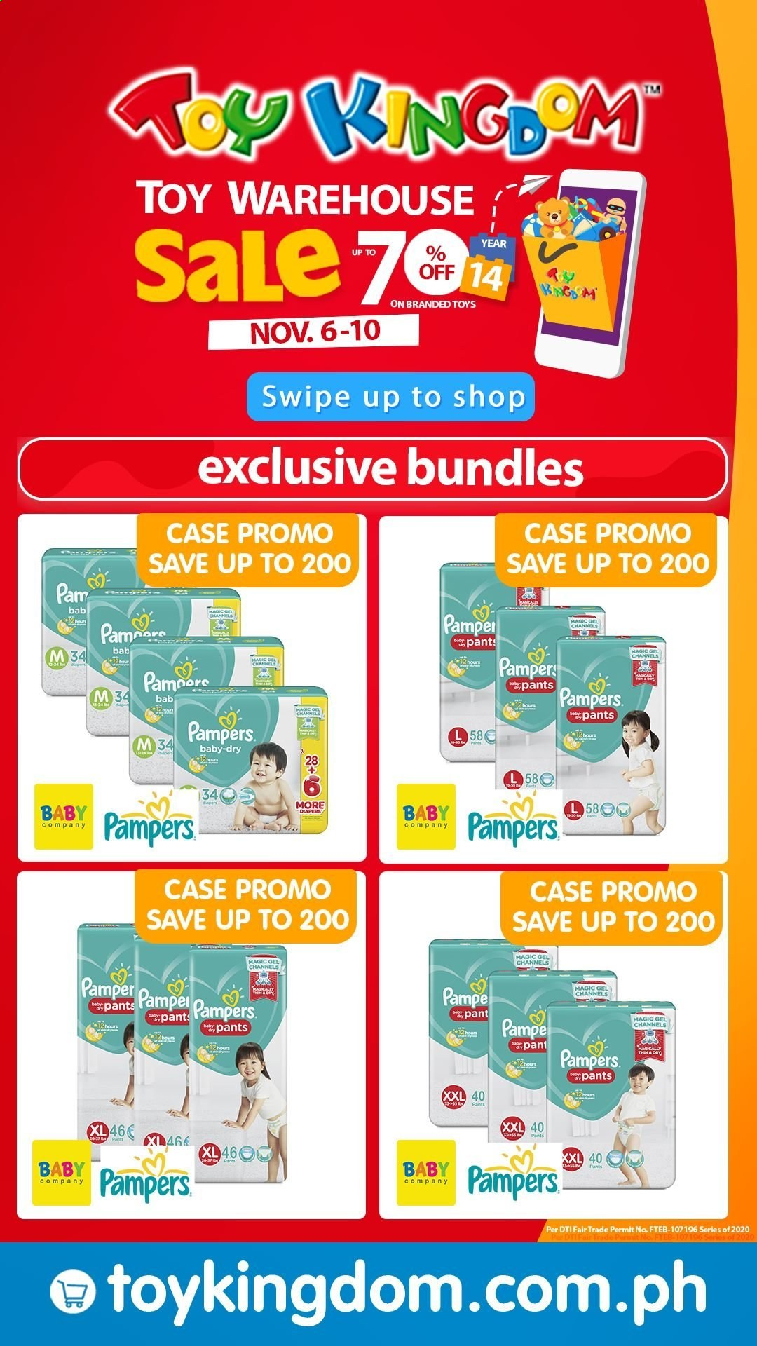 Toy Kingdom offer  - 6.11.2020 - 10.11.2020 - Sales products - Pampers, toys. Page 18.
