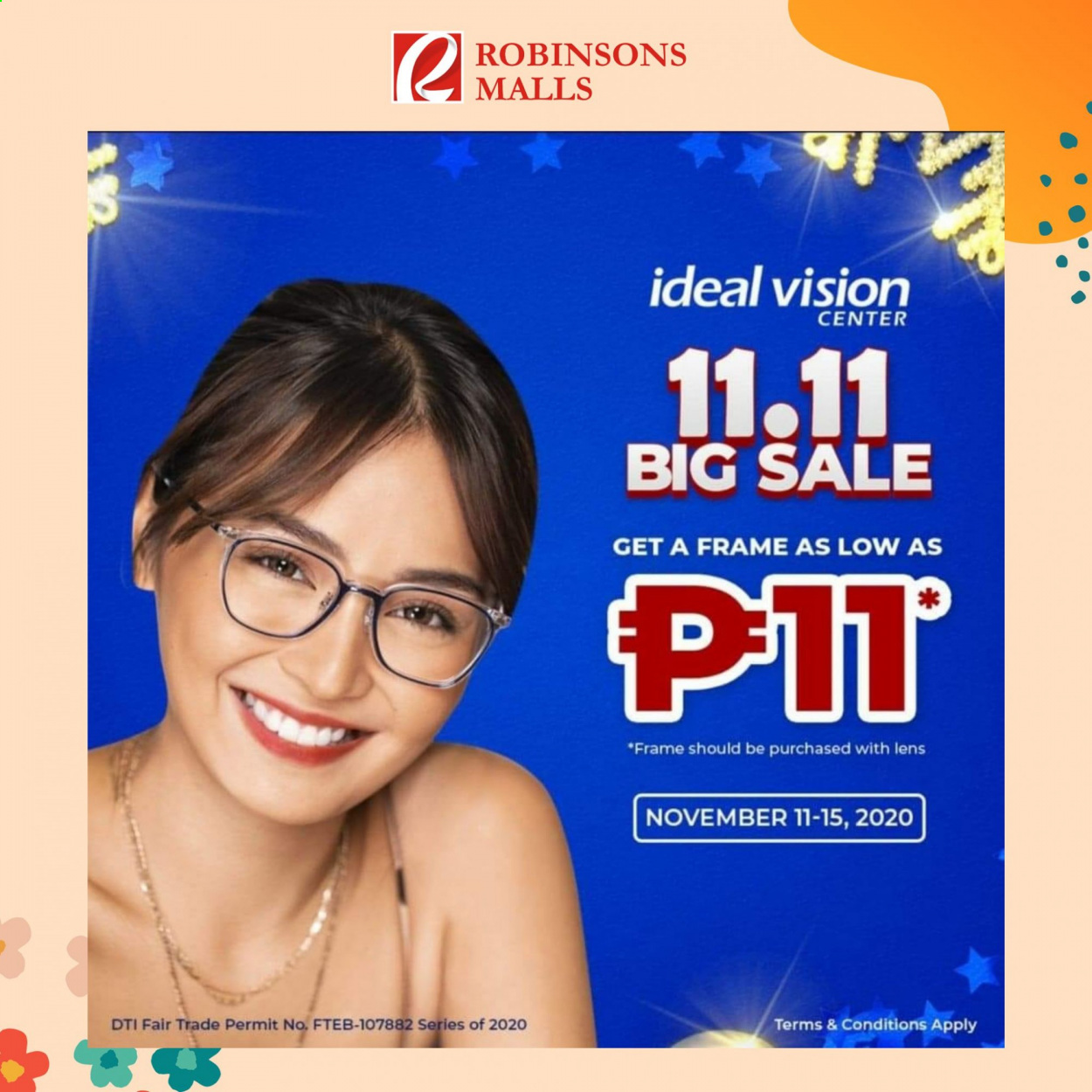 Robinsons Malls offer  - 11.11.2020 - 15.11.2020 - Sales products - lens. Page 1.