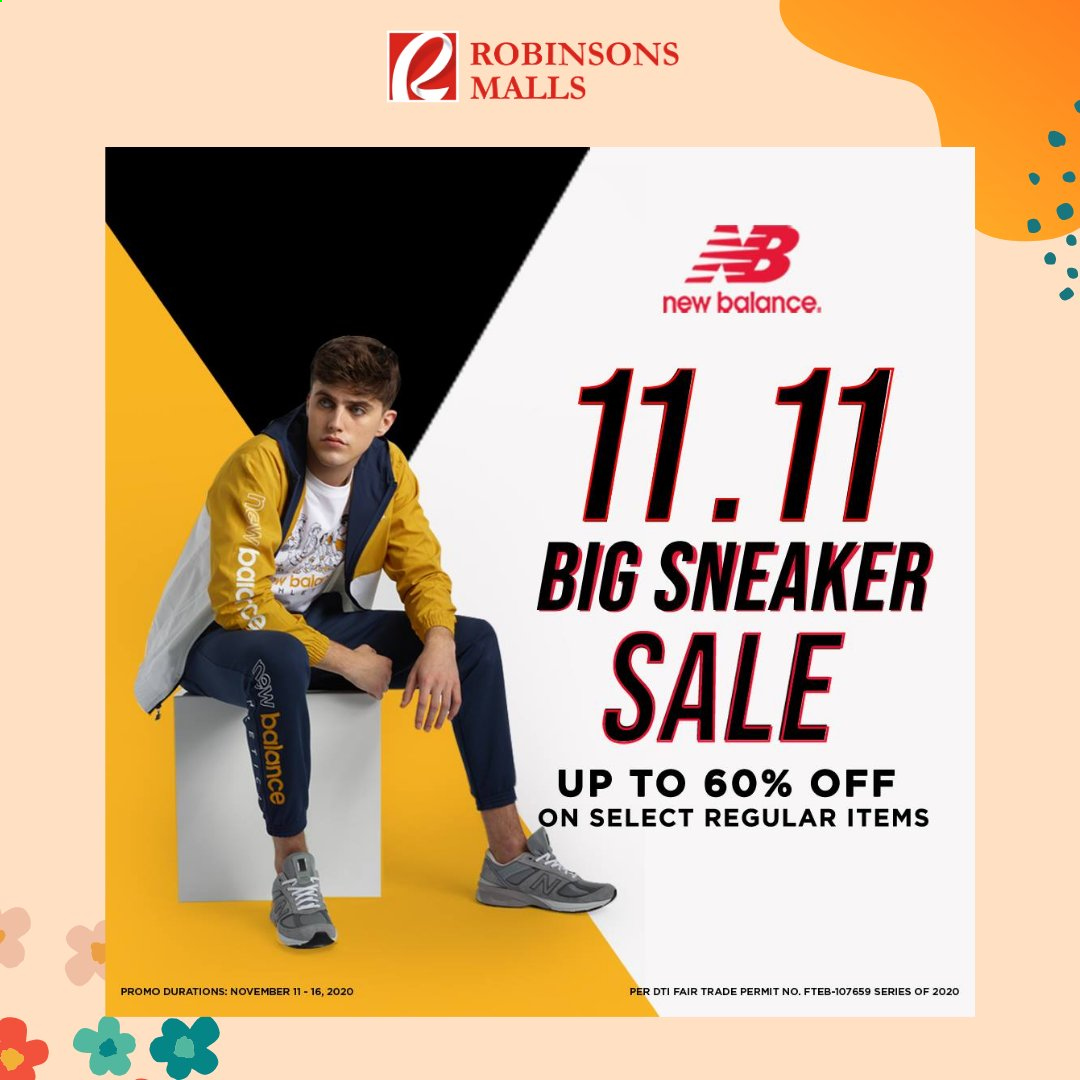 Robinsons Malls offer  - 11.11.2020 - 16.11.2020 - Sales products - New Balance. Page 1.