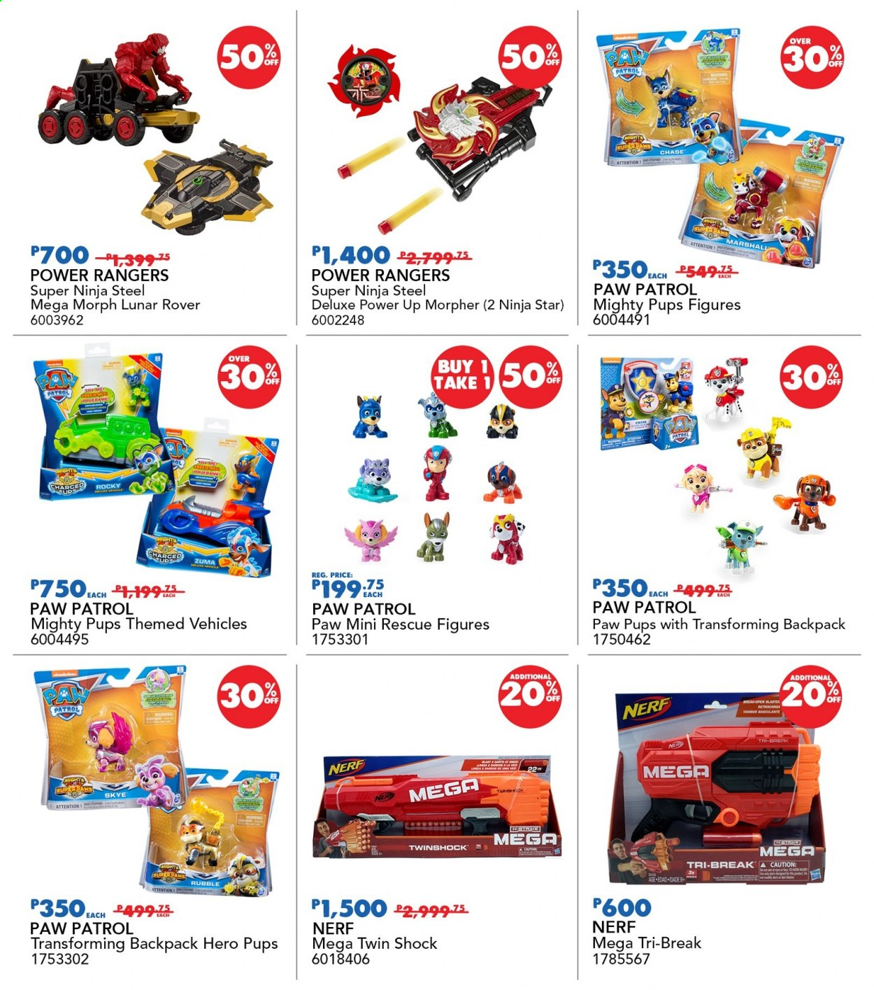 "Toys""R""Us offer  - 19.11.2020 - 22.11.2020 - Sales products - Nerf, Power Rangers, Paw Patrol, Morph. Page 9."