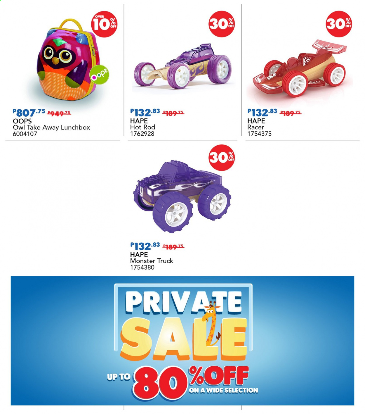 "Toys""R""Us offer  - 19.11.2020 - 22.11.2020 - Sales products - truck, owl, Monster. Page 30."