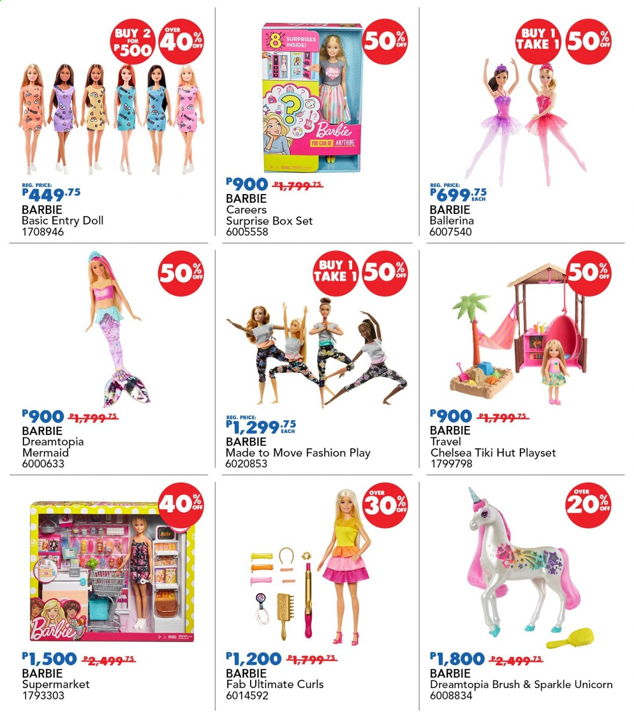 "Toys""R""Us offer  - 19.11.2020 - 22.11.2020 - Sales products - Barbie, doll, play set. Page 50."