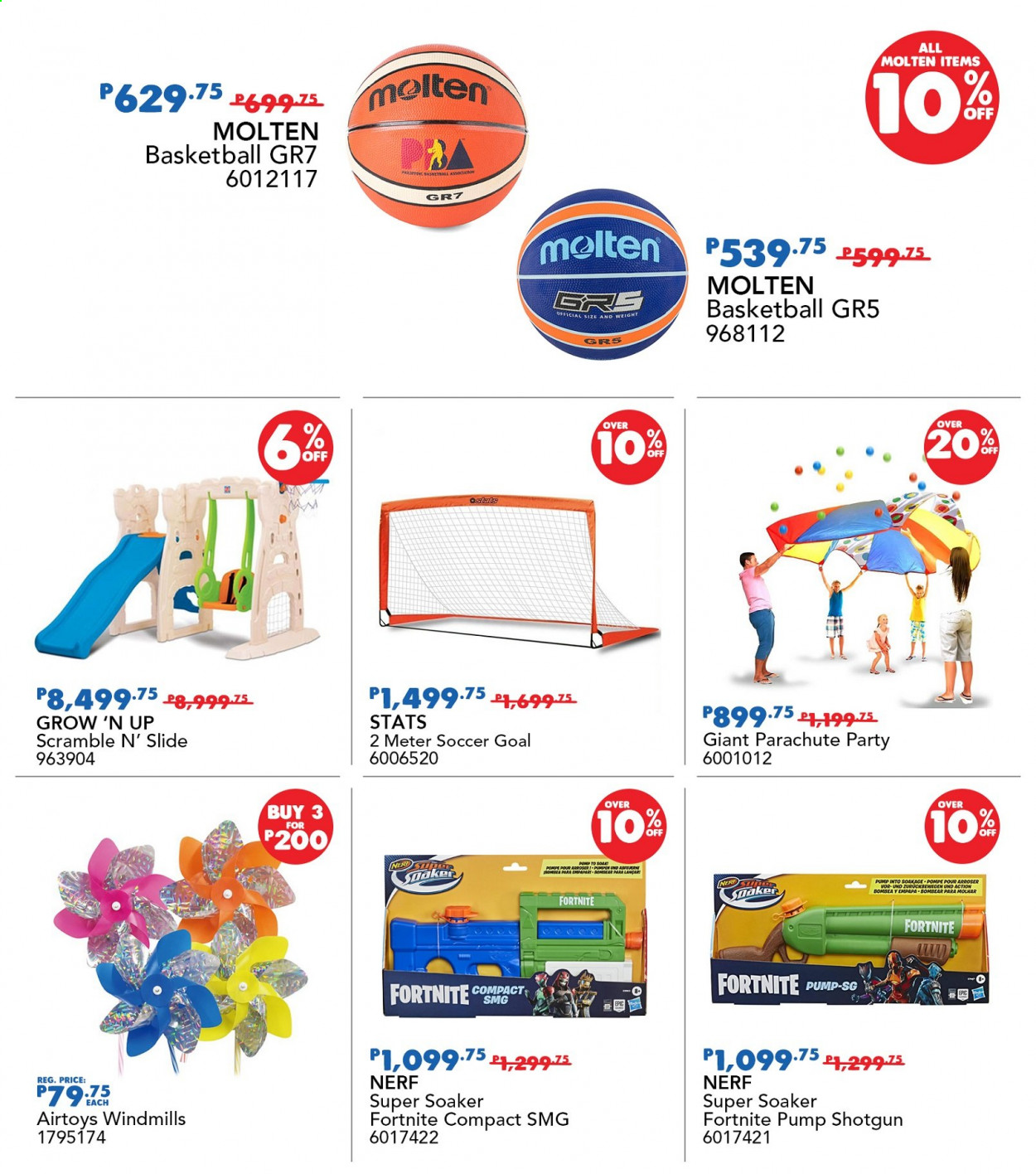 "Toys""R""Us offer  - 19.11.2020 - 22.11.2020 - Sales products - goal, Nerf, soaker, pump. Page 61."