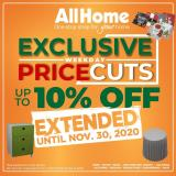 AllHome offer  - 19.11.2020 - 30.11.2020.