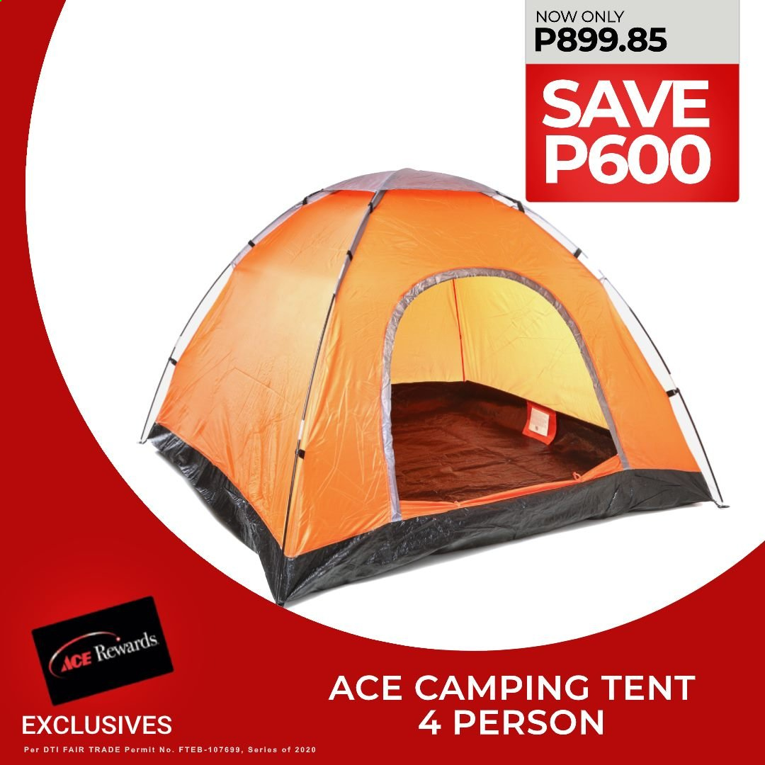 ACE Hardware offer  - Sales products - tent, camping tent. Page 2.