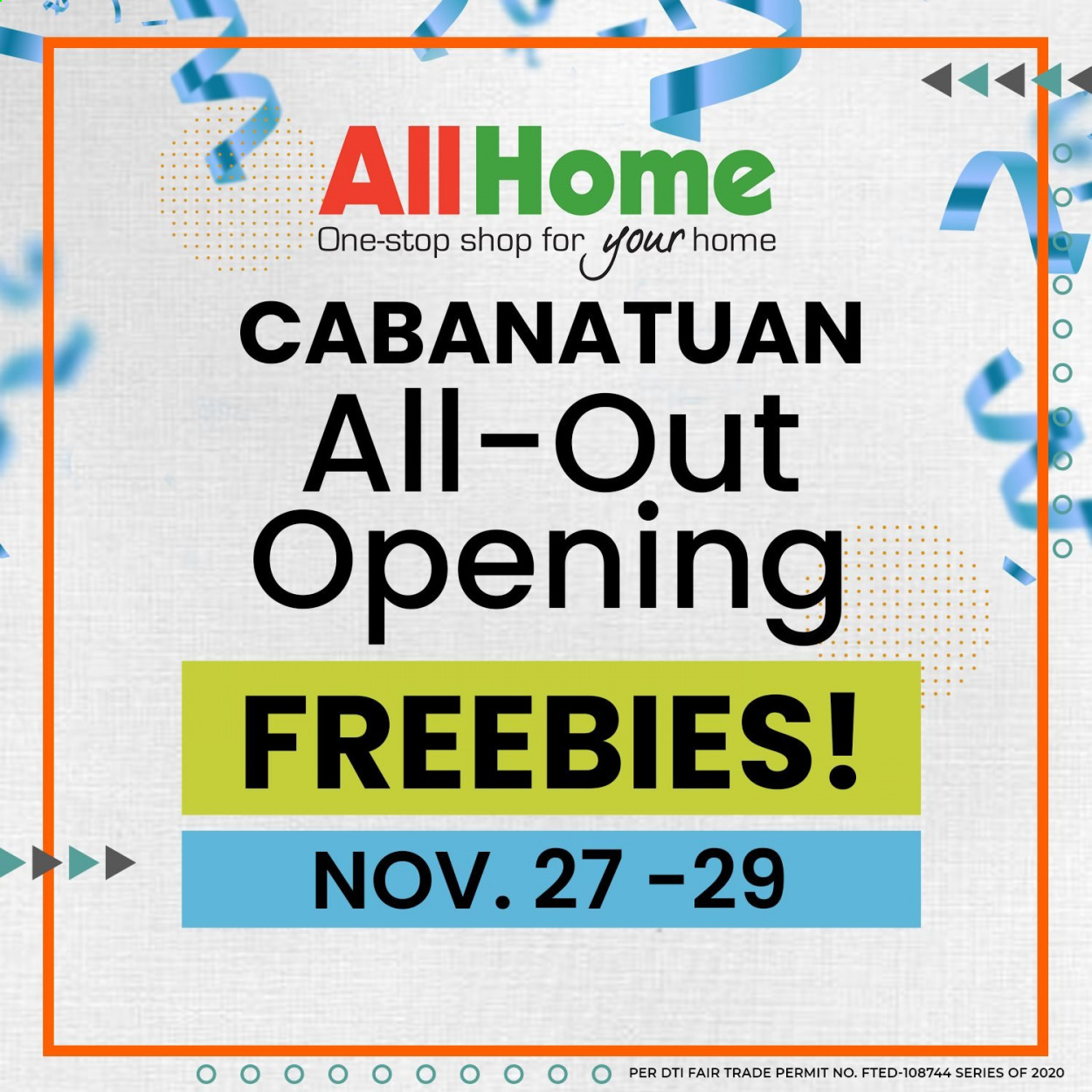 AllHome offer  - 27.11.2020 - 29.11.2020. Page 1.