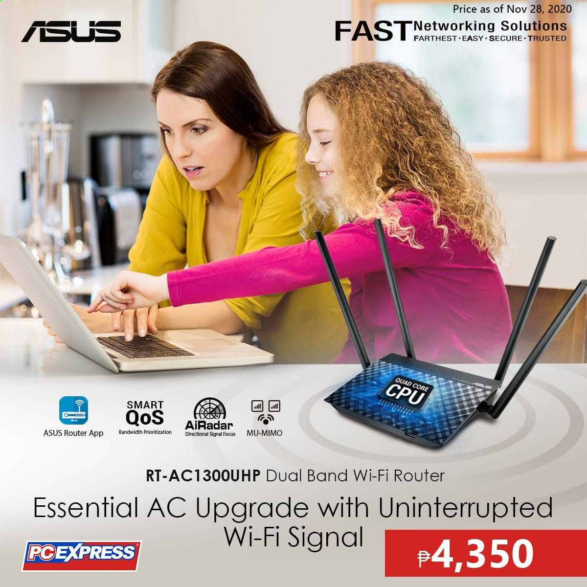 PC Express offer  - 28.11.2020 - 28.11.2020 - Sales products - Asus, router, wifi. Page 1.