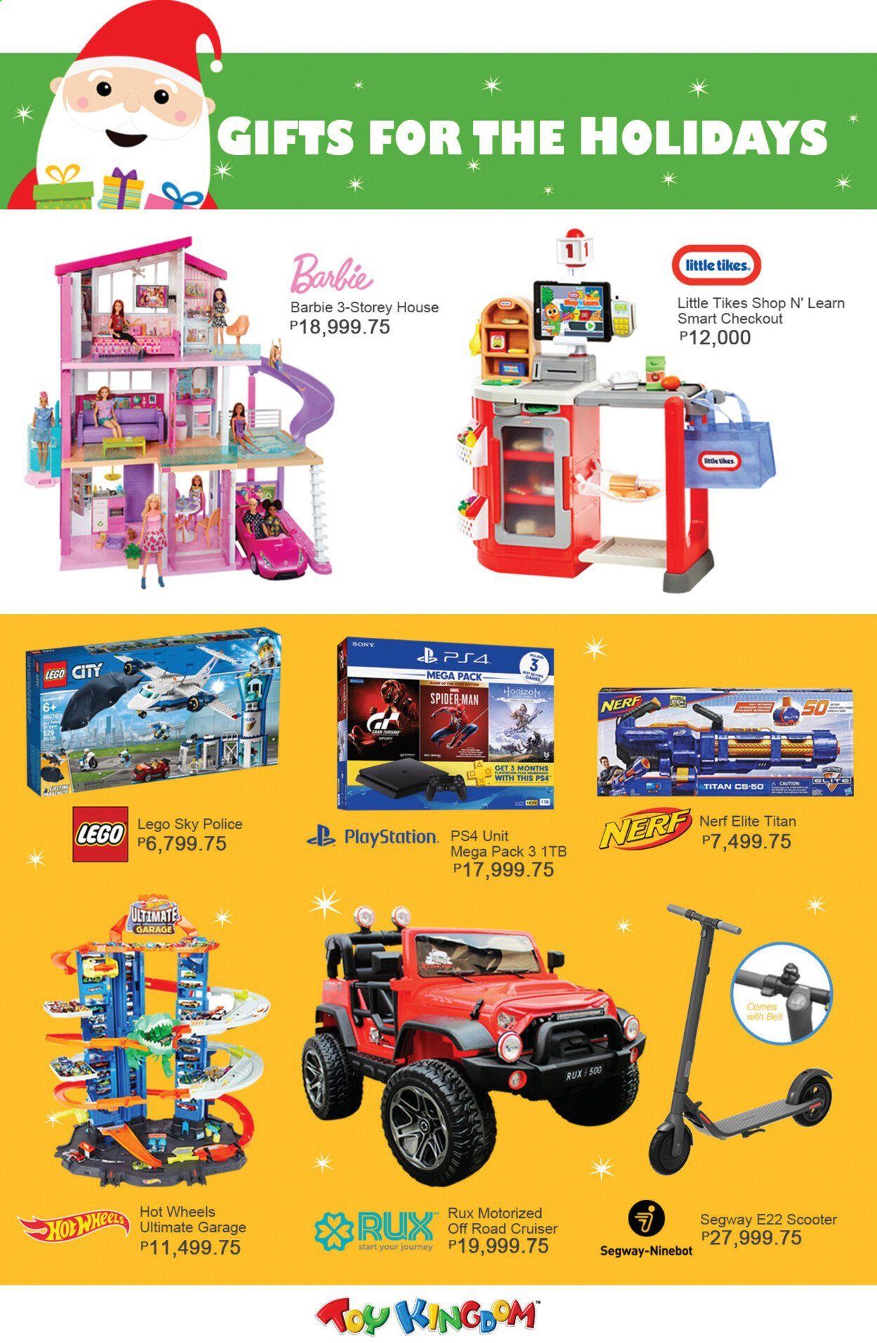 Toy Kingdom offer  - Sales products - Barbie, LEGO, LEGO City, Nerf, Hot Wheels, Little Tikes, PlayStation 4, cruiser. Page 2.