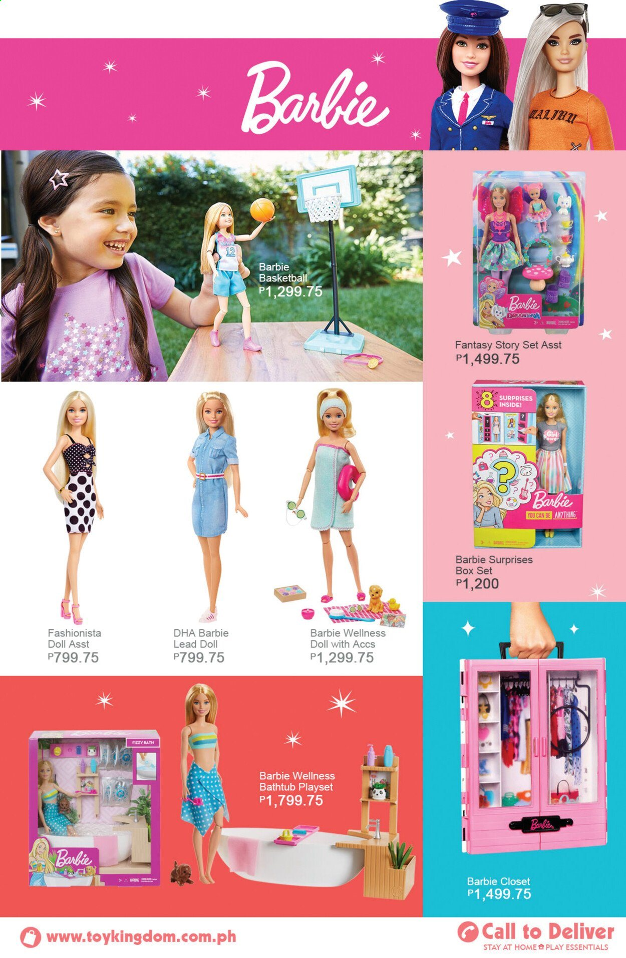 Toy Kingdom offer  - Sales products - Barbie, basketball, doll, play set. Page 31.