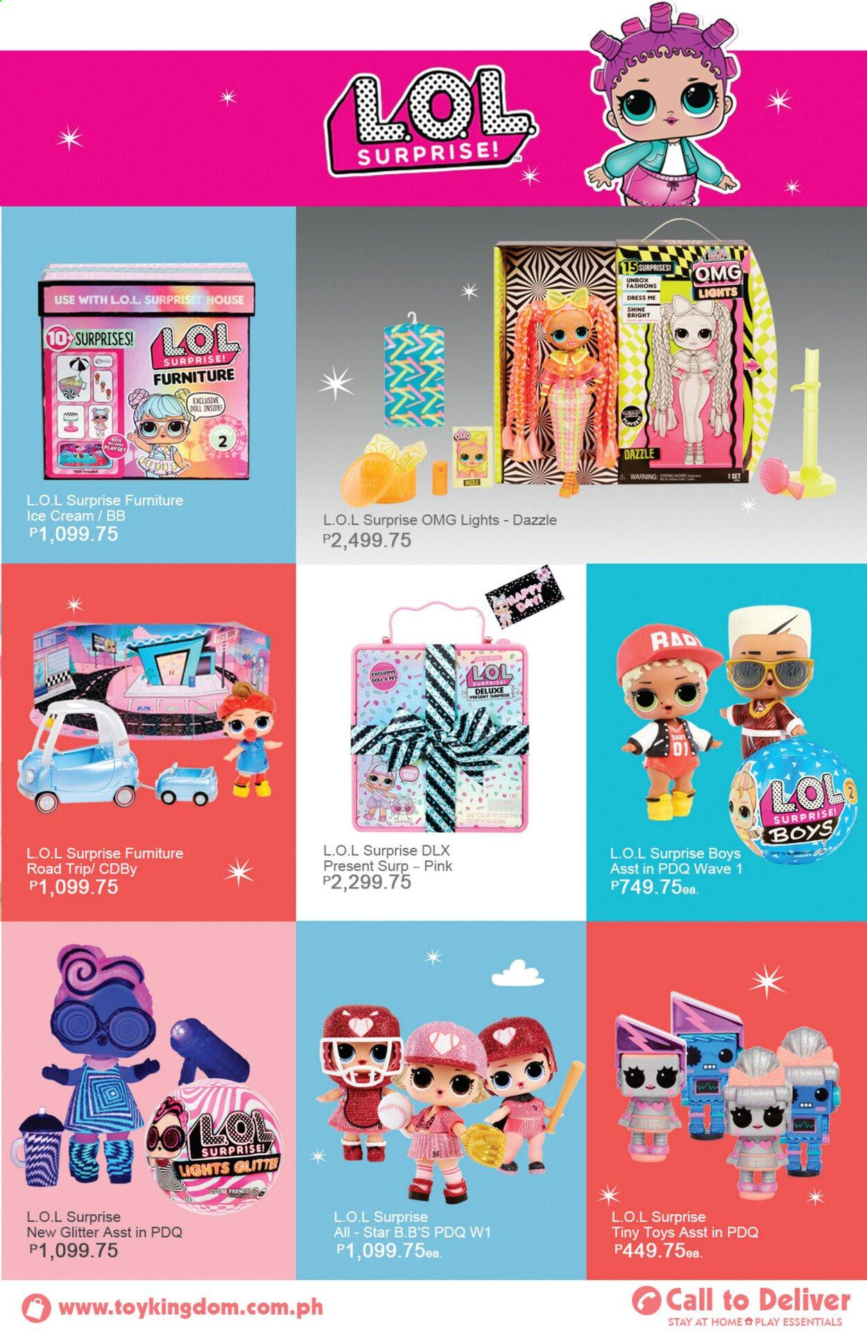 Toy Kingdom offer  - Sales products - glitter, doll, toys, L.O.L. Surprise. Page 33.