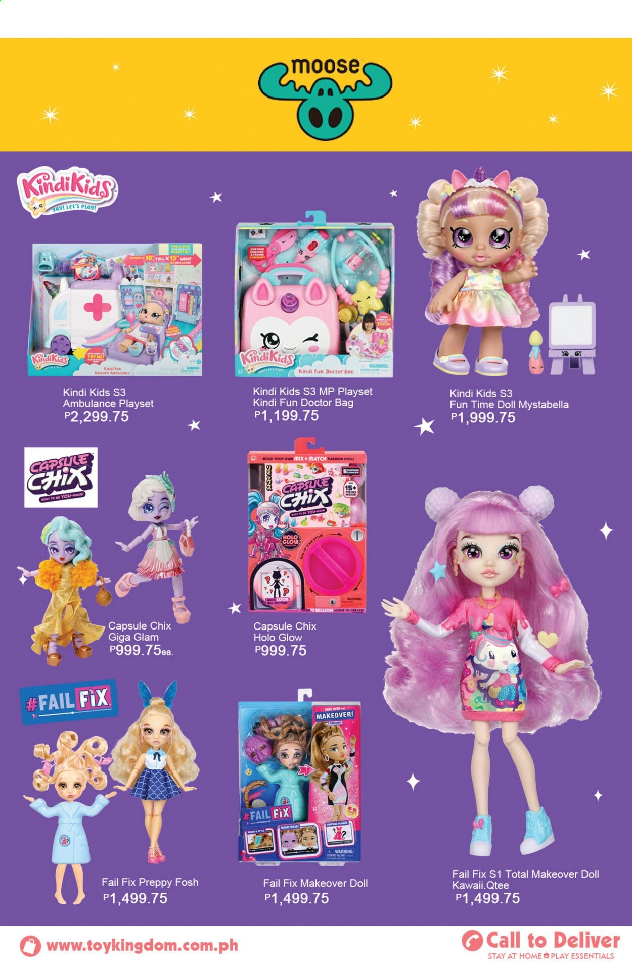 Toy Kingdom offer  - Sales products - bag, doll, play set. Page 37.