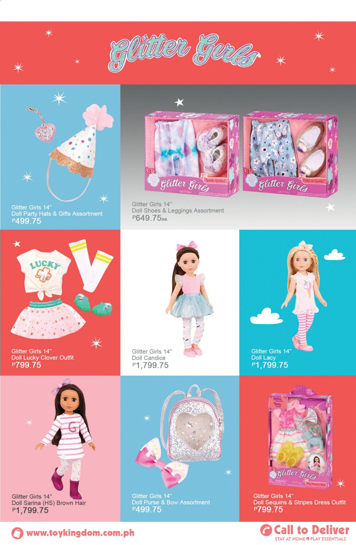 Toy Kingdom offer  - Sales products - glitter, doll. Page 39.