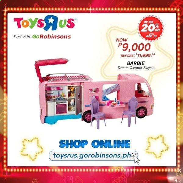 "Toys""R""Us offer  - Sales products - Barbie, play set. Page 3."