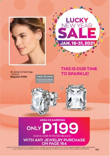 Avon offer  - 1.1.2021 - 31.1.2021 - Sales products - Avon, earrings, jewelry. Page 167.