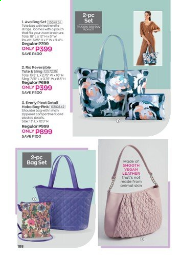 Avon offer  - 1.1.2021 - 31.1.2021 - Sales products - bag, tote, tote bag. Page 192.