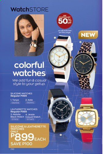 Avon offer  - 1.1.2021 - 31.1.2021 - Sales products - watch. Page 214.