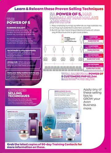 Avon offer  - Sales products - Avon. Page 19.