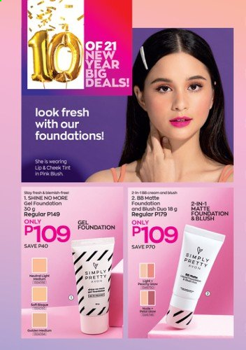 Avon offer  - Sales products - Avon, cheek tint. Page 26.