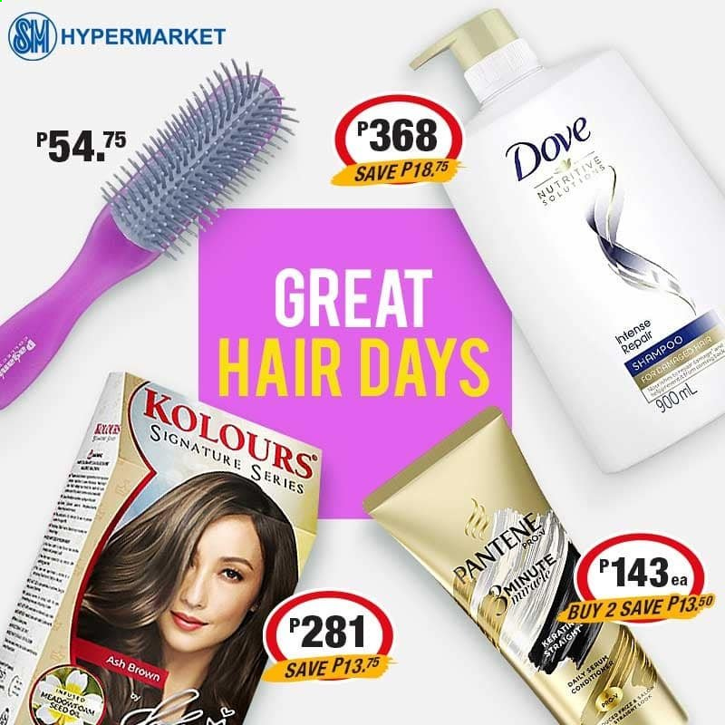 SM MARKETS offer  - Sales products - Dove, shampoo, serum, conditioner, Pantene. Page 6.