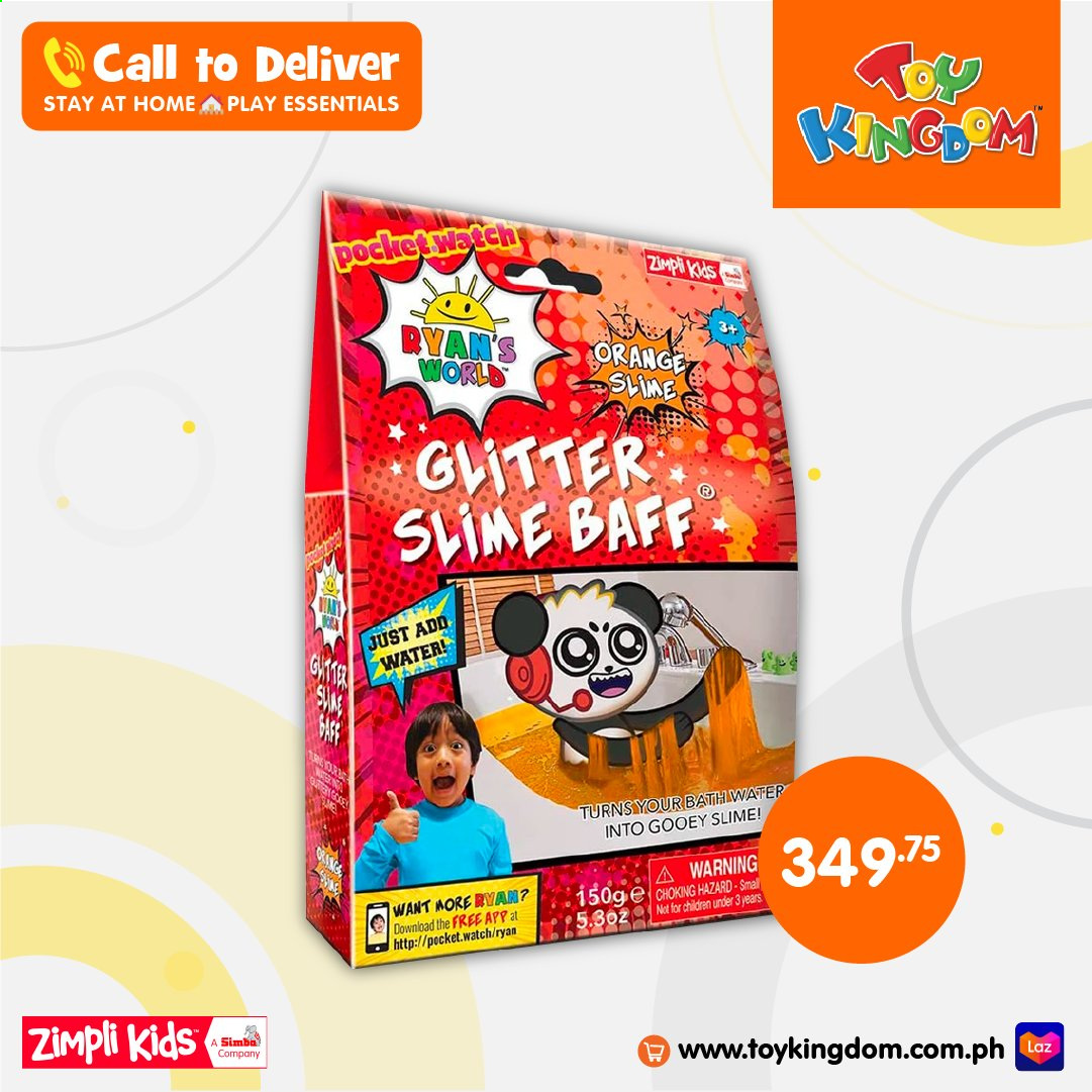 Toy Kingdom offer  - Sales products - Slime Baff, orange. Page 1.