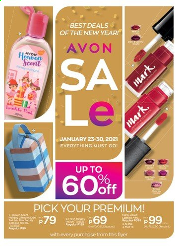Avon offer  - 23.1.2021 - 30.1.2021 - Sales products - Avon, cologne. Page 1.