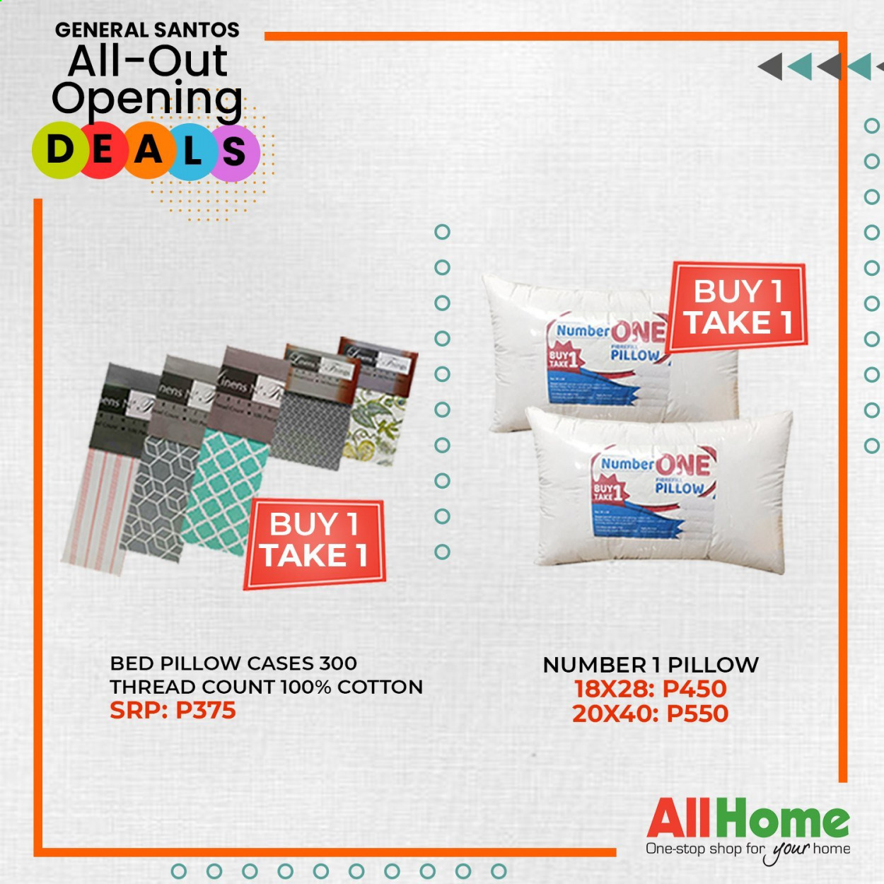 AllHome offer  - 30.1.2021 - 28.2.2021 - Sales products - pillow, bed. Page 1.