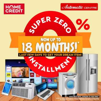 Automatic Centre offer  - 27.1.2021 - 31.1.2021.