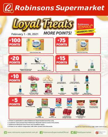 Robinsons Supermarket offer  - 1.2.2021 - 28.2.2021.