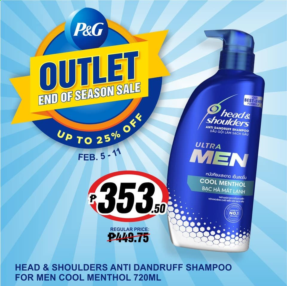 SM MARKETS offer  - 5.2.2021 - 11.2.2021 - Sales products - shampoo, Head & Shoulders. Page 1.