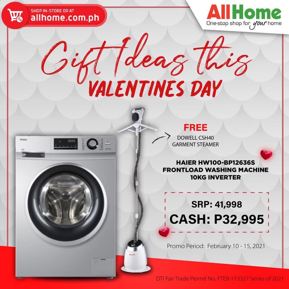 AllHome offer  - 10.2.2021 - 15.2.2021 - Sales products - Haier, washing machine. Page 1.