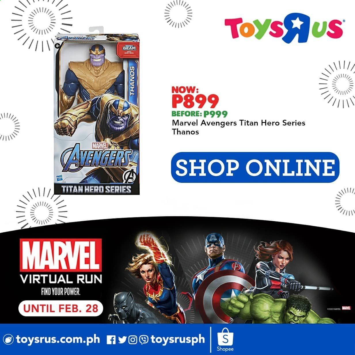 "Toys""R""Us offer  - 20.2.2021 - 28.2.2021 - Sales products - Marvel, Avengers. Page 4."