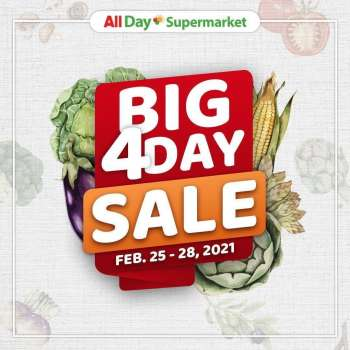 AllDay Supermarket offer  - 25.2.2021 - 28.2.2021.