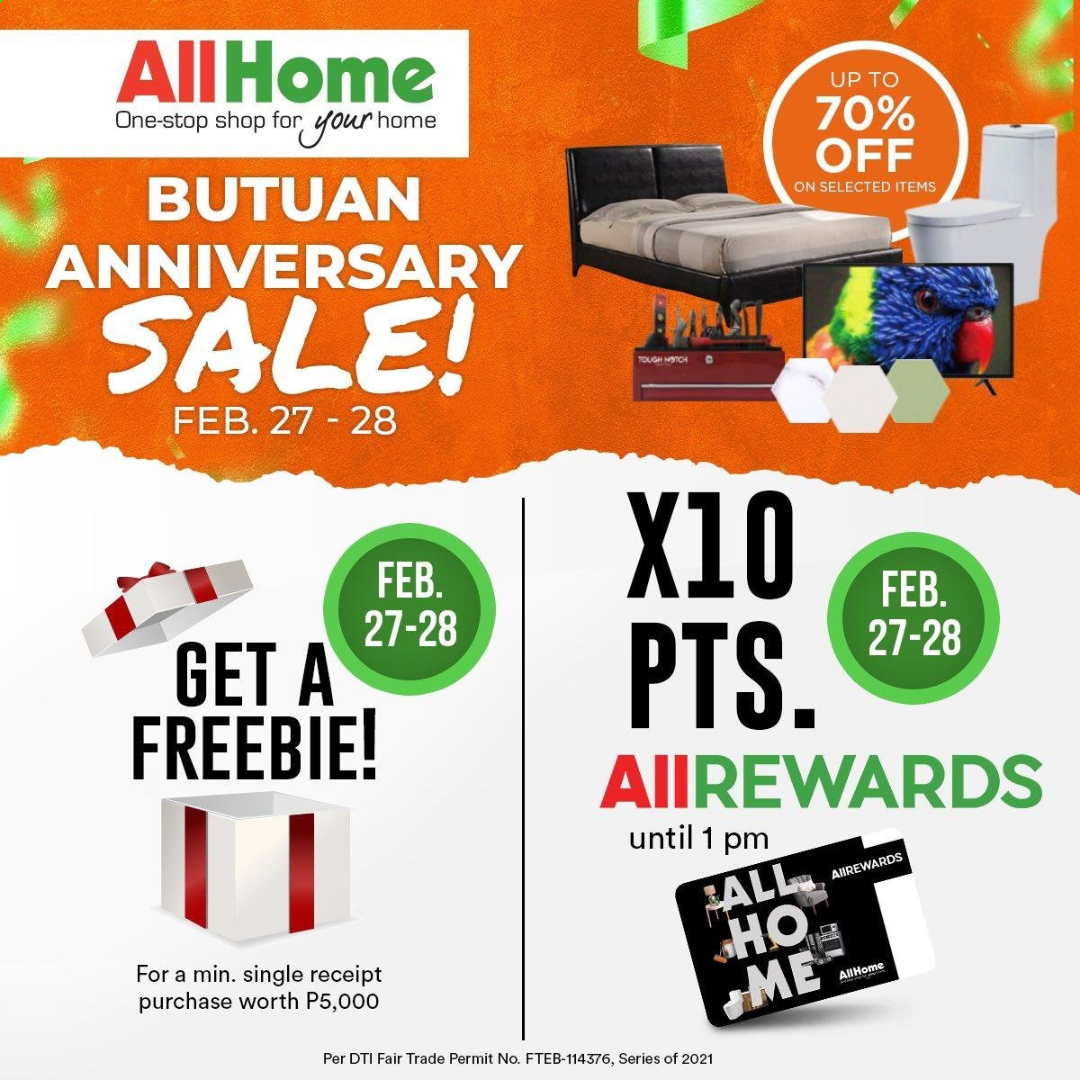 AllHome offer  - 27.2.2021 - 28.2.2021. Page 1.