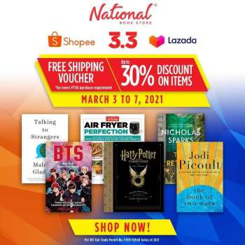 National Book Store offer  - 3.3.2021 - 7.3.2021.