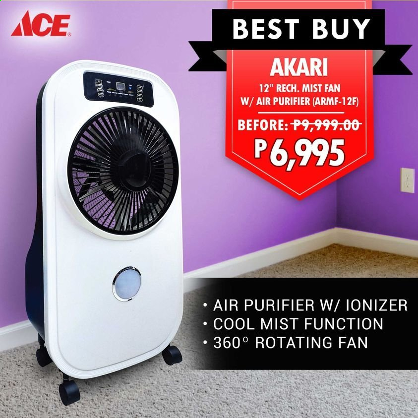 ACE Hardware offer  - Sales products - Ace, air purifier, fan. Page 1.