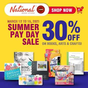 National Book Store offer  - 12.3.2021 - 15.3.2021.