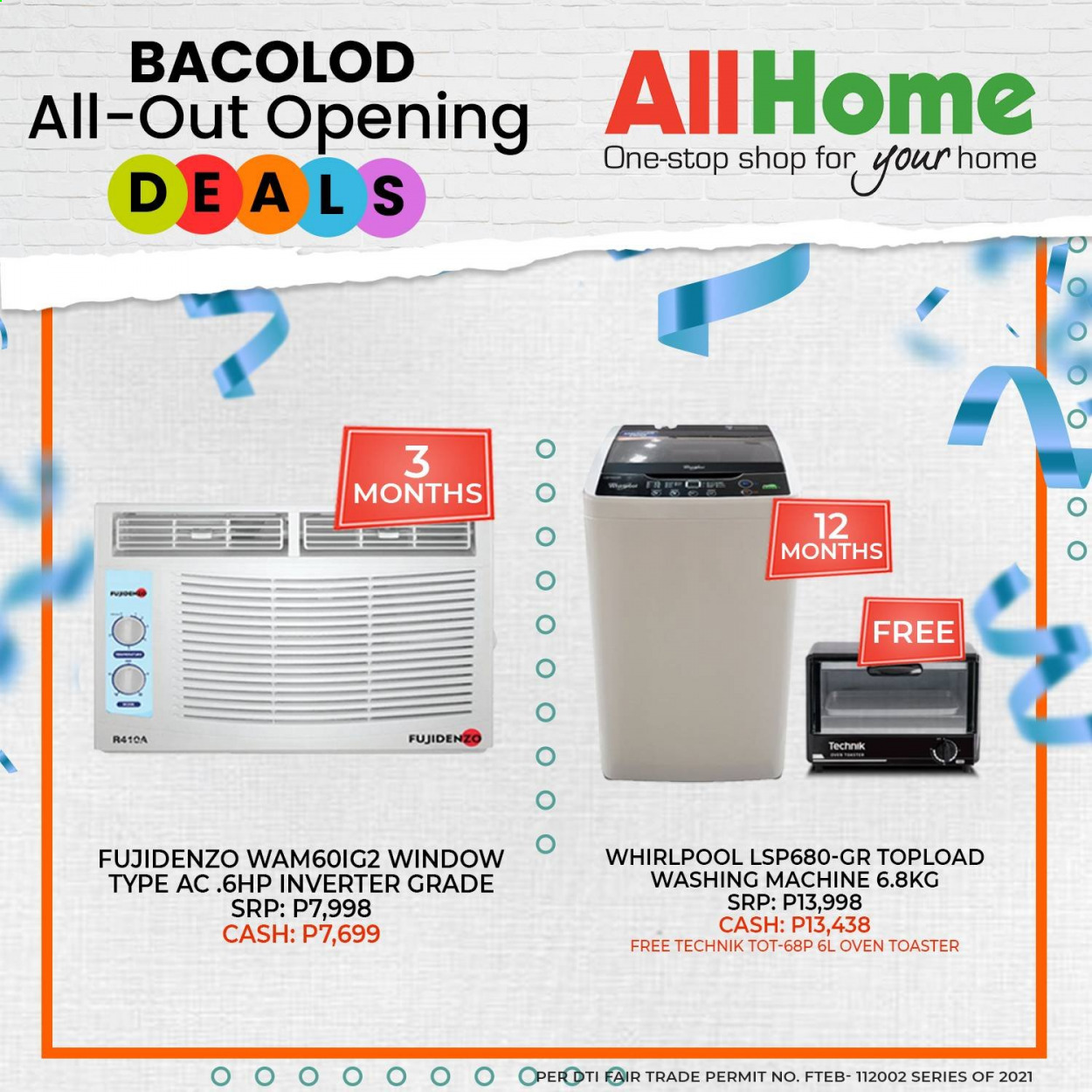 AllHome offer  - Sales products - whirlpool, oven, washing machine. Page 1.