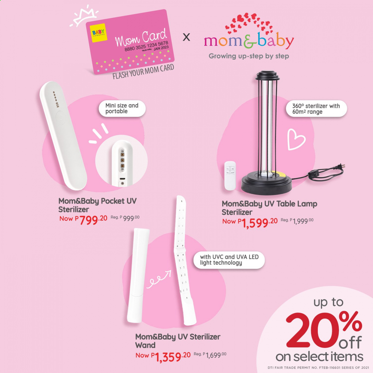 Baby Company offer  - 9.4.2021 - 11.4.2021 - Sales products - lamp, LED light, table lamp. Page 1.