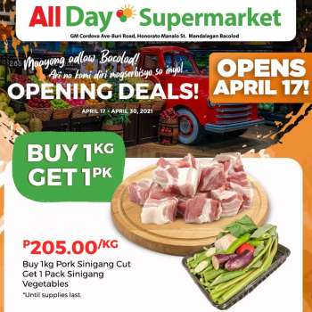 AllDay Supermarket offer  - 17.4.2021 - 30.4.2021.