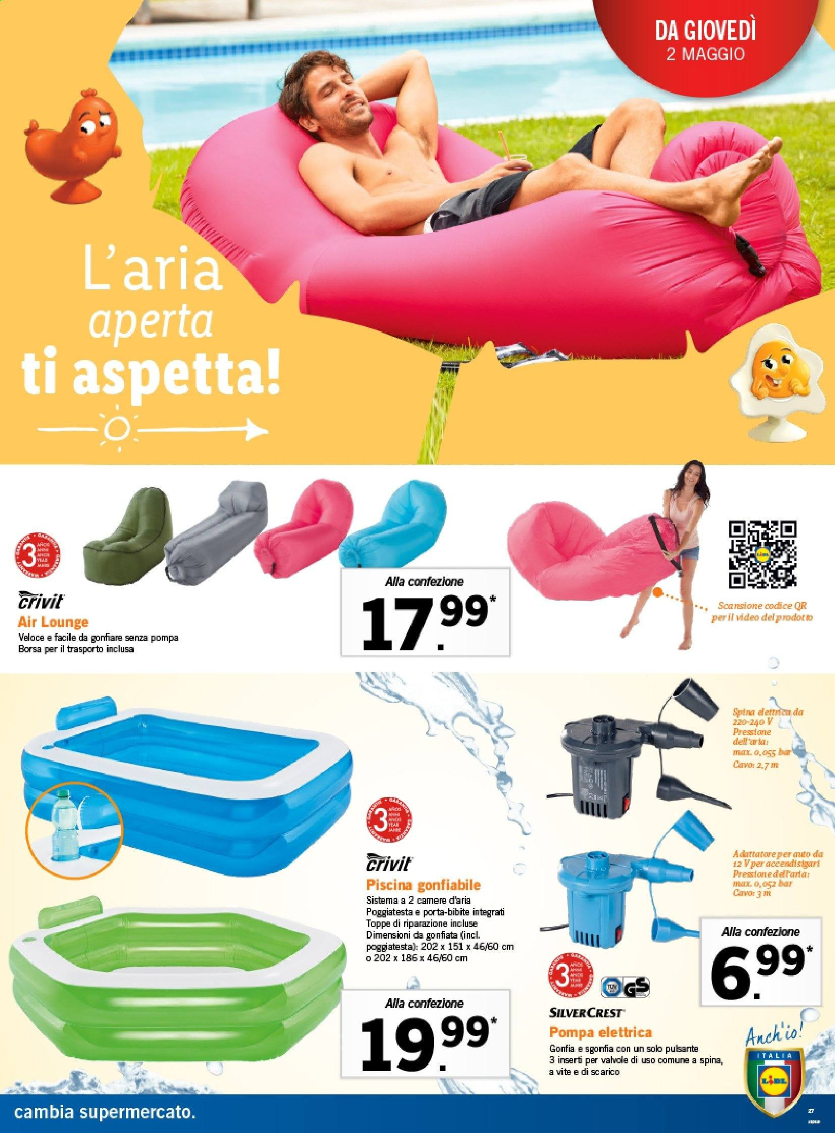 Lidl air lounger Our Products