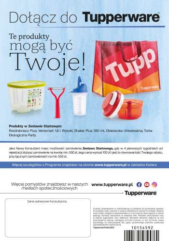 Gazetka Tupperware - 1.2.2021 - 28.2.2021.
